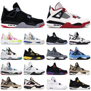4s sapatos de basquete homens jumpman 4 preto gato fogo vermelho paris motoresports alternate thunder neon mens treinadores esportes sneakers