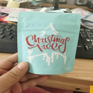 İlaçlı Çocuk Mylar Dayanıklı Edibles Ağacı Bags Koku Noel Dayanıklı Yerel Çanta wmtqL jjxh