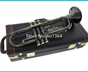 Hot Sell Bb Trumpet Black Nickel argento plated strumento musicale squisitamente intagliato design con il caso di trasporto