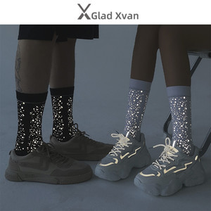 Designer Socks Reflect Light Sock Men Women Starry Sky Style Sock Hip Hop Stockings Couple Lover Gift