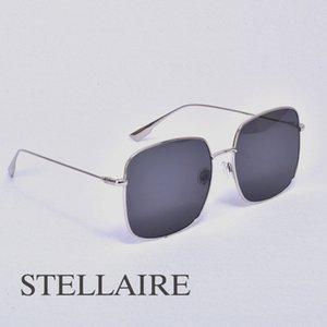 럭셔리 스퀘어 선글라스 여성 남성 브랜드 디자이너 금속 프레임 태양 안경 여성 stellaire 편광 된 UV400 렌즈 안티 푸른 빛