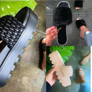 TXFGR FLOPS High Quality Designery Slides Flats Allber Mink Block It Mules Кожаные скольжения Домашняя тапочка Дизайнерские меховые меховые тапочки Сандалии