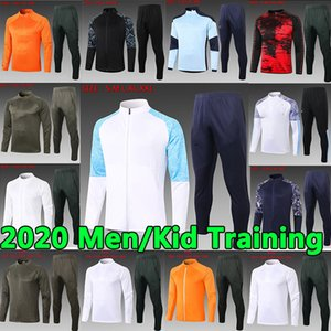 20 21 Manchester City Eğitim Takım Elbise Erkekler Çocuklar Pogba Manchester United  Rashford Futbol Ceket Spor Ayak Jogging 20 21 Futbol Eşofman Üniforma