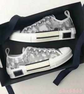 kutu 2020 Yeni Kadınlar Eğik Teknik Tuval Dokulu Harf Baskı Sneaker Erkek Siyah Beyaz İki tonlu Kauçuk Sole Casual Ayakkabı 42 Dantel-up