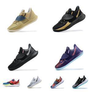 Mens scarpe basse 3 basket Kyrie nuovo 2020 Sashiko Tan Black Gold Multi Natale CNY kyries Irving 7 minimi tagliato le scarpe da tennis di tennis con formato della scatola