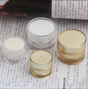 Free Shipping 5ml 10ml Golden Acrylic-Based Resin Lucifugal Empty Bottle jar Slap-up Eye Gel Cream Cosmetic Containers