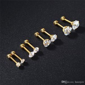 Consideravelmente aço inoxidável 316L Jóias Helix Barbell Ear Piercing Cartilagem Anel Jóias belamente brinco de luxo