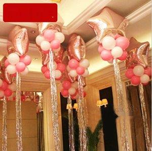 regen Silk Ballon Seidenkrawatte Ballon Quaste Hochzeit Parteidekoration regen Vorhang Valentinstag dekorativen Vorhang 1m 4M5ht