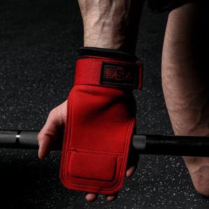Innstar Weight Lifting Hand Grips Entrenamiento Almohadillas Ajustes de soporte de muñeca ajustables Envolturas para el levantamiento de potencia Tire de levantamientos muertos Culturismo Q0108