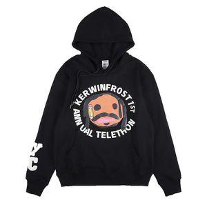 AlphaGym CPFM Graphic Печать Повседневный длинным рукавом Harajuku Tshirt Мужчины Streetwear Hip Hop Vintage Крупногабаритные с капюшоном свитер