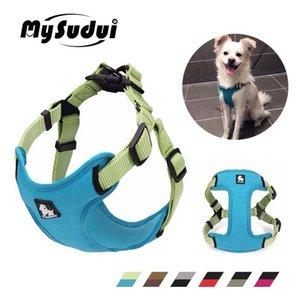 Mysdudui Truelove Moyenne Petit Harnais de chien Gilet Sangle Réglable Reflective Chiot Pitbull Chihuahua Accessoires de chien 201126