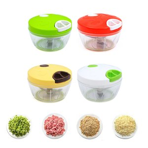 Mini cortador de vegetales Multifunción Diseño alto rápido Vegetal Fruit Twist Shredder Manual Carne Grinder Chopper Ajo Cutter W-00672