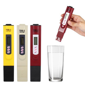 Testers TDS-3 Digital TDS Meter Monitor TEMP PPM Tester Pen LCD Meters Stick Water Purity Monitors Mini Filter DHL Free