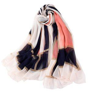 Bufandas de gasa grande para mujer Mulitcolor Scarf a cuadros Estola Travel Beach Shawl Wrap Wrap Female Señoras Accesorios de ropa