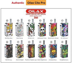 100% Authentic Oilax Cito Pro 2 in 1 Vape Oil Wax Vaporizer Kit 400mah Mod Variable Voltage Electronic Cigarette Battery Kits