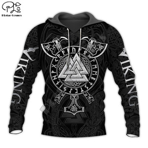 PLstar Cosmos Viking Warrior Tattoo New Fashion Tracksuit casual 3DfullPrint Zipper Hoodie Sweatshirt Jacket Mens Womens style-6 201019