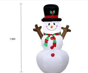 2021 hot sale Popular Christmas air model 1.6m Christmas inflatable branch snowman Santa Claus Inflatables