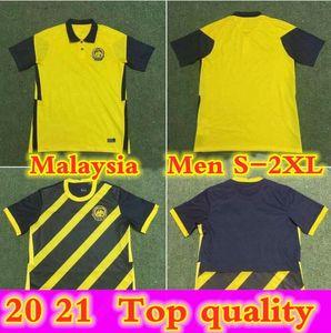 21 22 ماليزيا المنتخب الوطني لكرة القدم الفانيلة المنزل قميص كرة القدم مايلوت فوتول كاميرات كاميرات كبيرة الرجال كيت الكبار حجم S - XXL