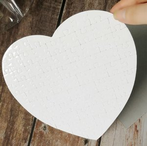 Blank Heart Shaped Sublimation Puzzles Blank Pearl Jigsaw DIY Puzzle Wedding Birthday Valentine's Day Party Favor Gift SN2276