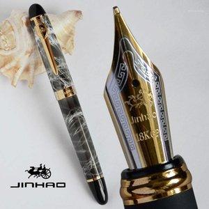 Ручка фонтана ручка 0,7 мм широкий Nib 18kgp jinhao x450a серый мраморный офис синий коричневый серебристый зеленый 5 цветов селективный подарок1