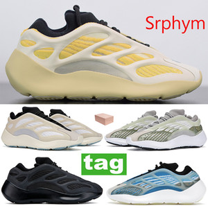 Beste Qualität Srphym 700 v3 Glühen in den dunklen Männer Frauen Schuhe Azareth Alvah Azael reflektierende Turnschuhe Skelett Laufschuhe