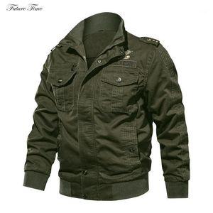 Mens Jackets Autumen Homens Outwear Manga Longa Lavada Plus Size Algodão Inverno Casual Jaqueta Sólida Cor Exército Verde C18561
