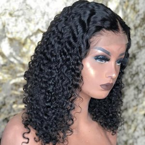 curly lace front human hair wigs for black women Short bob Long deep frontal brazilian water wave wig wet and wavyl 13x1