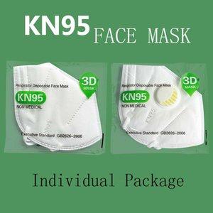 Factory Outlet KN95 Maske Mode Gesichtsmasken mit Atem Modulheizkreise Stelle staub- und haze 5-Schicht-Schutzmaske mit Ventil