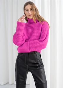 Мода Черепаха шеи Теплый Свитера Свободный пуловер с длинным рукавом зимы осени женщина Конструкторы Soild Цвет одежды