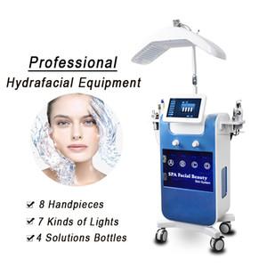 8 en 1 Microdermabrasión hidrofacial RF BIO Máquina facial Hydro Facial Limpieza de agua Peel Machine Dermabrasion PDT LED Luz