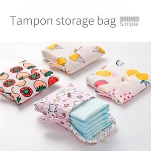 1PCS New Cartoon Tampon Storage Bag Sanitary Pad Pouch Cosmetic Bags Organizer Ladies Makeup Bag Girls Safety Tampon Gadget