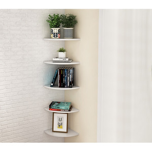 White 3 Pcs Floating Wall Corner Shelf Wall Mounted Storage Shelf Rack Bathroom Shower Holder Home Bookshelf Shelves Storage Y200429