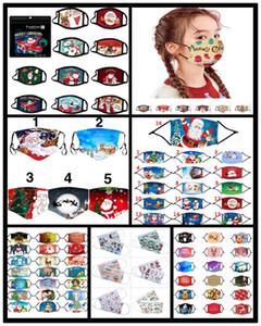 2021 Cara de Navidad máscara de tela anti-polvo máscara divertida del algodón EE.UU. mujer unisex Invierno MANERA calienta lavable de Santa Máscara