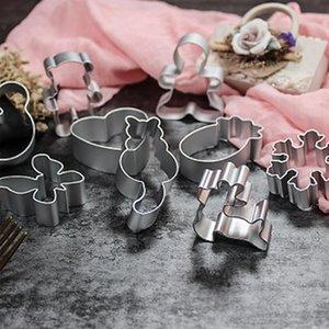 멀티 스타일 비스킷 DIY 금형 스타 심장 커터 베이킹 금형 알루미늄 합금 쿠키 커터 플런저 과자 스텐실 IIA797