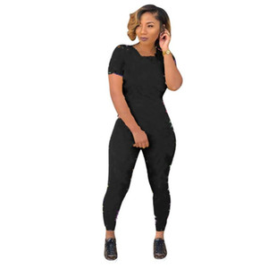 Women Two Pieces outfits Women Tracksuit Crop Top + Pants 2 Pieces Set Panelled Colors Outfits Casual Sweatsuits Jogging Jogger Sportwear