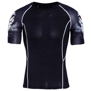 2020 Mens Gyms Clothing Fitness Compression Base Layers Under Tops T-shirt Running Crop Tops Skins Gear Wear Sports Fitness t shirt