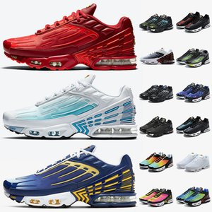 nike air max plus tn 3 nike tuned tn plus 3 Atacado Top Quality Mulheres Homens Running Shoes laser vermelho azul profundo reais Tn 3 treinadores Sneakers