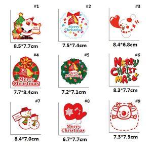 linda de la historieta de los ciervos de Navidad de campana pegatinas personaje de dibujos animados se puede aplicar al vidrio pegatinas refrigerador interruptor pegatinas GGE1964