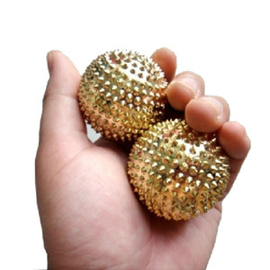 2pcs Magnetic Acupressure Treatment Hand Palm Stimulation Needle Massage Ball Portable Physiotherapy Ball Yoga Exercise