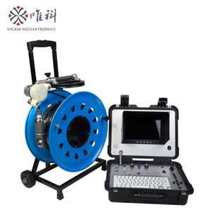 deep water well AHD inspection camera 80m   100m   120m with 10 inch monitor V10-3288PTN-2