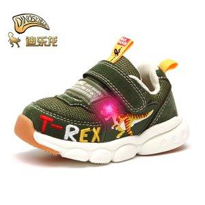 Dinoskulls niños pequeños niños LED zapatos Baby Trainers Boys Dinosaur Sneakers Sneakers Autumn Niños Tenis transpirable Light Shoes 201130
