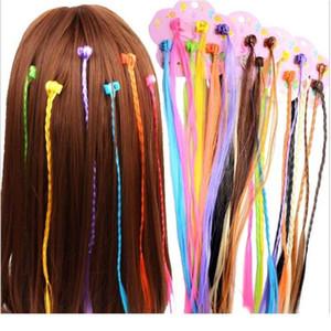 6pcs lot Girls Colorful Wigs Ponytail Hair Ornament Hair Claw Hair Clips Twist Braid Headwear For Kids Girls Acc qyleKT