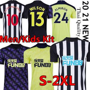 2020 2021 Tyne Üzerinde Magpies Yeni Futbol Formaları Wilson Shelvey Lascelles Ritchie Birleşik Futbol Gömlek Erkekler Kids Kiti Üniformaları