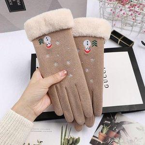 Weihnachtsgeschenk Frauen Handschuhe Winter Doppel warme Handschuhe Female Coral Fleece Touchscreen Handschuhe GUANTES Femme im Freien