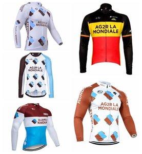 AG2R squadra lunga corte ciclismo maglia Mens Wear cicla Clothing Quick-Dry Cycle abbigliamento da montagna biciclette Ropa Ciclismo 102101