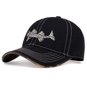 Explosive Fishbone Embroidered Baseball Cap Outdoor Sports Cap Hip-hop Hat Designers Caps Hats Mens Designer Baseball Hat