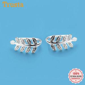 Trusta 100% 925 reales plata esterlina Niza la forma pendientes de plata para las mujeres Pendiente de plata de ley-joyas Brincos DS595