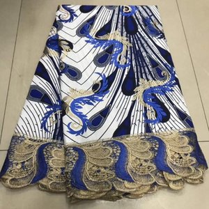 New African Wax Cord Lace Fabric Nigerian Lace Fabric Swiss Voile Embroidered Bazin For Women Wedding Party Dresses 5Yards