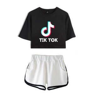 Tik tok software 2019 New Summer Kpops Women Two Piece Set Shorts And lovely T-shirts Clothes Hot Sale Harajuku Print 4G9U