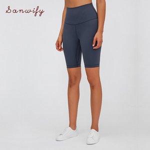Nepoagym Execute cintura alta Yoga Shorts escovado material Mulheres Ciclismo Shorts Super Macio Gym Stretchy Compression
